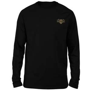 Harry Potter Hufflepuff Embroidered Unisex Long Sleeved T-Shirt - Black £19.99 delivered with code @ IWOOT