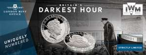 """Official strike Imperial War Museums """"We Shall Never Surrender"""" Coin £2.50 @ London Mint Office"""