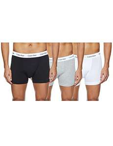 Calvin Klein Men's Trunk Black/White/Grey (Pack of 3) from £15.40 + £4.49 NP @ Amazon
