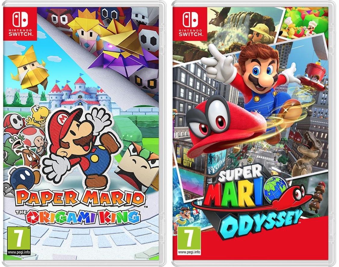 Nintendo Switch Super Mario Odyssey £33.99 + Paper Mario £34.99 + 10% code = £62.08 (£31.04 each) @ Currys