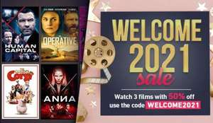 50% off 3 Films (Buy/Rent) @ Chili