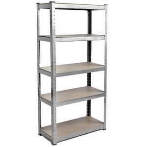 5 Tier Shelf shelving unit heavy duty racking boltless industrial shelves (galvanised) - £19.75 delivered @ eBay / homediscountltd