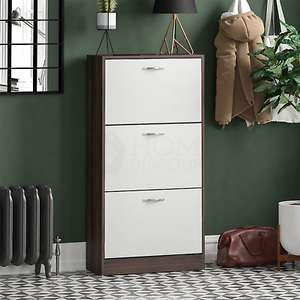 3 Drawer Shoe Cabinet Storage Cupboard £36.85 Delivered using code @ eBay / homediscountltd