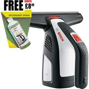Bosch GlassVAC Solo Rechargeable Window Cleaner & FREE Detergent Spray Worth £8.49 - £34.95 + £3.95 delivery @ Tooled-up