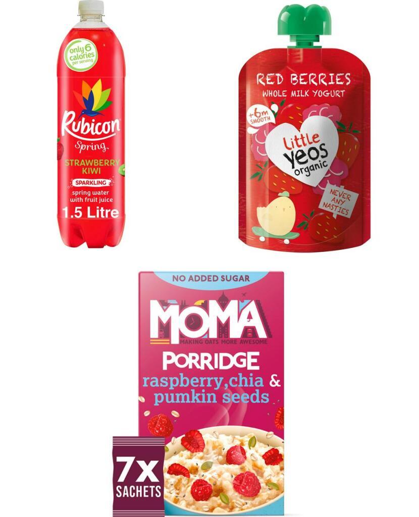 Free Rubicon Sparking Water 1.5L / Moma Porridge Sachets / Little Yeos Organic Yogurt Pouch (+ Del / Min Spend) Sainsbury's