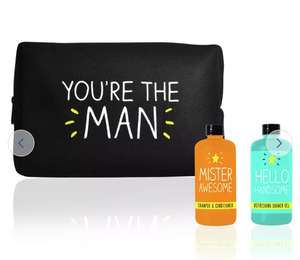 Happy Jackson Men's Wash Bag, Shower Gel, Shampoo Now £2 Delivery is £3.95 @ Argos (selected locations)