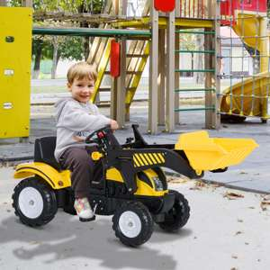 Kids Pedal Go-Kart Ride-On Excavator wtith Digger £53.09 delivered, mainland UK - Possible £50.15, using code, + Free delivery @ Aosom