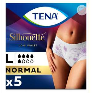 TENA Lady Silhouette Incontinence Pants Normal Large - 5 pack 50p + £3.50 delivery @ Boots