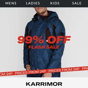 99% off Karrimor Flash Sale items at Sports Direct - 1 item per order - £4.99 delivery