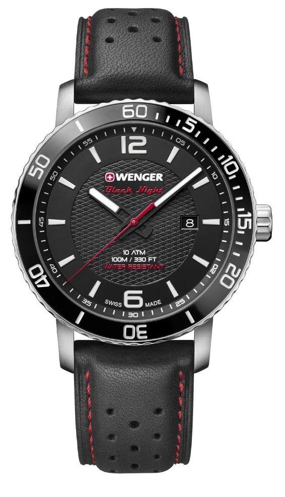 Wenger Roadster Black Night Men's Black Leather Strap Watch £74.40 at H Samuel