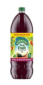 Robinsons Apple & Blackcurrant, Orange and Summer fruits Squash 3L £2 at Iceland (+ Delivery Charge / Minimum Spend Applies)
