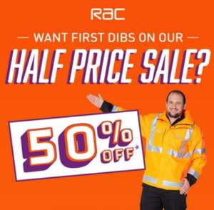 RAC 50% off (Invite 28th/For All 29th till 4th of Feb) - from £45 per Year or £4.50 per month (12 months - £54)