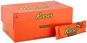 Reese's Peanut Butter Cups, 3 Milk Chocolate Flavour Cups, Pack of 40 x 51 g £22.48 / £17.20 S&S (+£4.49 Non Prime) @ Amazon