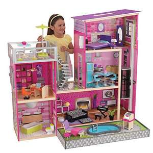 KidKraft 65833 Uptown Wooden Dolls House - £99.46 @ Amazon