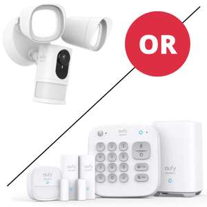 eufy Security 5-Piece Home Alarm Kit(Homebase, Keypad, Motion Sensor, 2 × Entry Sensors) £112 or Floodlight Camera £112 delivered @ Eufy