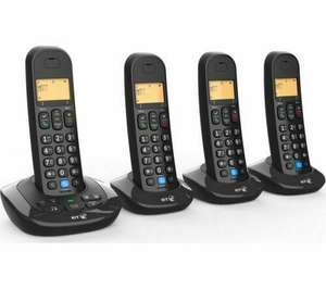 BT 3880 Cordless Home Phone with Nuisance Call Blocking and Answering Machine - Quad Handsets - £39.99 + £4.95 delivery @ Robert Dyas