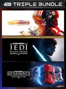 Star Wars Triple Bundle : Squadrons + Fallen Order Deluxe + Battlefront II Celebration for £10.82 - VPN Russia @ EpicGames