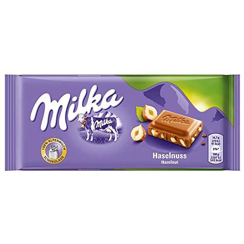 Milka Noisette Hazelnut Alpine Milk Chocolate Bar 100g £1 (+£4.49 non-Prime) @ Amazon