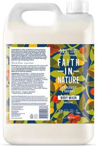 Faith in Nature Natural Grapefruit and Orange Body Wash 5L Refill Pack £29.36 Amazon
