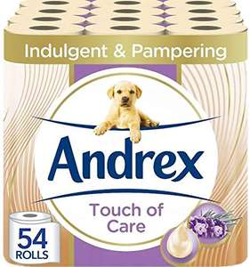Andrex Toilet Roll Touch of Care, 54 Rolls £24 @ Amazon