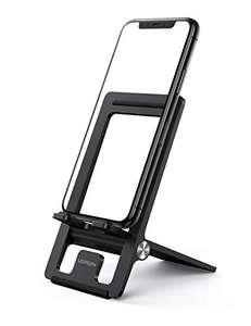 UGREEN foldable adjustable phone & tablet stand in black for £5.59 Prime (+£4.49 non Prime) delivered using code @ Ugreen Direct / Amazon