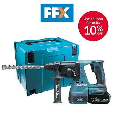 Makita DHR242RMJ SDS Plus Rotary Hammer Drill + 2x4.0Ah Batteries, Fast Charger + MakPac Case £269.10 @ FFX ebay