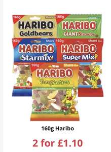 Haribo 160g bags 2 for £1.10 at Farmfoods