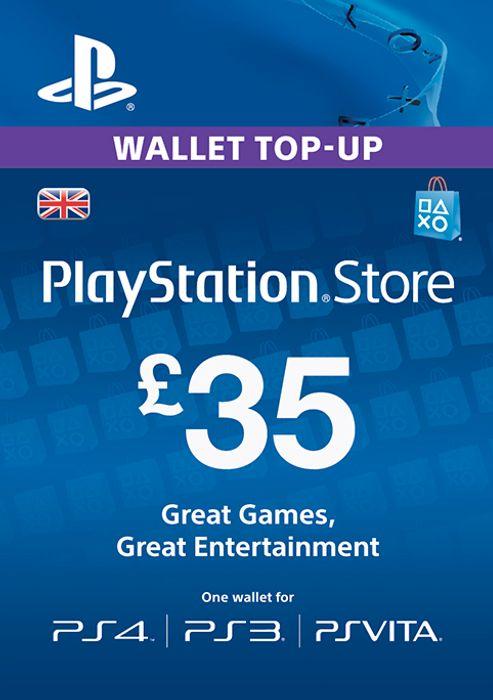 Playstation Network Card - £35 (PS Vita/PS3/PS4) £28.99 @ CDKeys