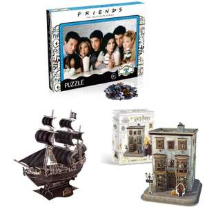 Free delivery on puzzles (including Friends, 3D Harry Potter and National Geographic ) from £8.49 @ IWOOT