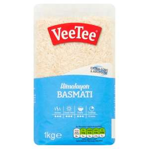 Veetee Himalayan Basmati Rice 1Kg now down to £0.66 (+ Delivery Charges / Minimum Spend Applies) at Tesco