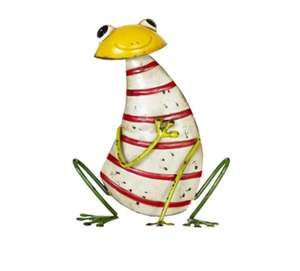 Up to 60% Off Garden Ornaments Eg Steel Frog £6.99 / Scarecrow £6.99 / Stripy Owl £9.99 delivery is £2.99 @ Yorkshire Trading Co