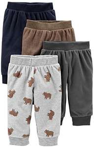 Premature Simple Joys by Carter's Baby Boy's 4-Pack Fleece Pants, Pack of 4 - £4.52 (Prime) + £4.49 (non Prime) at Amazon