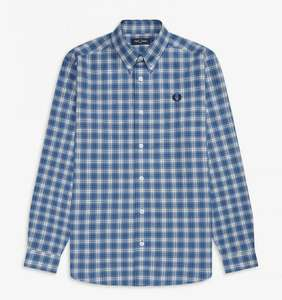 Fred Perry Micro Check Shirt - £25.50 delivered @ Fred Perry Shop