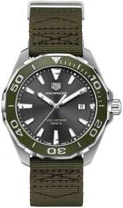 TAG Heuer Men's Stainless Steel Aquaracer 300m Watch with Khaki dial and Strap - £1,012.50 @ Steffans Jeweller