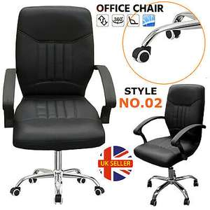 Padded PU Leather Office Chair - £39.99 delivered @ etechnosol / ebay