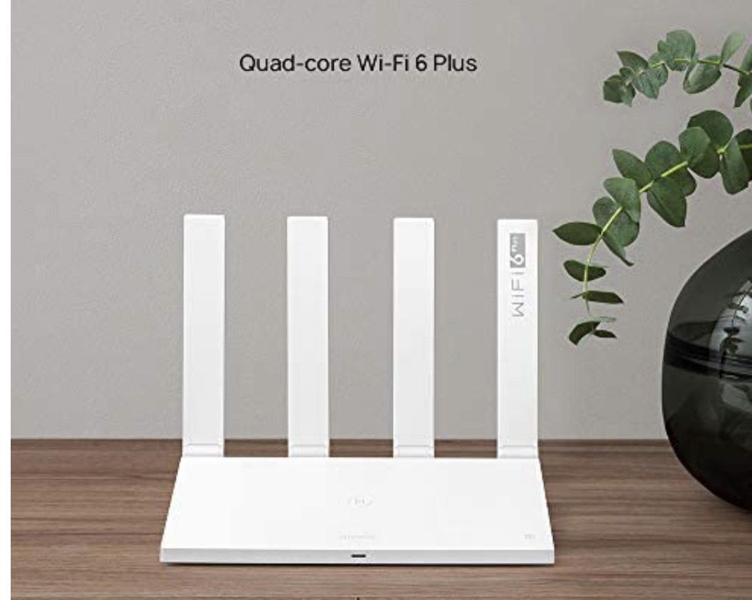 HUAWEI AX3 3000 Mbps Wi-Fi Router, Quad-Core WiFi 6 Plus Revolution, OFDMA Multi-User Technology - £49.99 @ Amazon