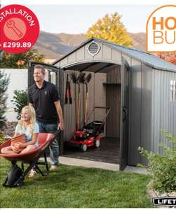 Lifetime Wood Look 8ft x 10ft (2.4 x 3m) Outdoor Storage Shed £899.99 at Costco