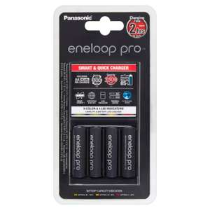 Panasonic Eneloop Pro LED Charger & Pro AA Batteries £29.32 @ Ocado (+ delivery / minimum basket charges apply)