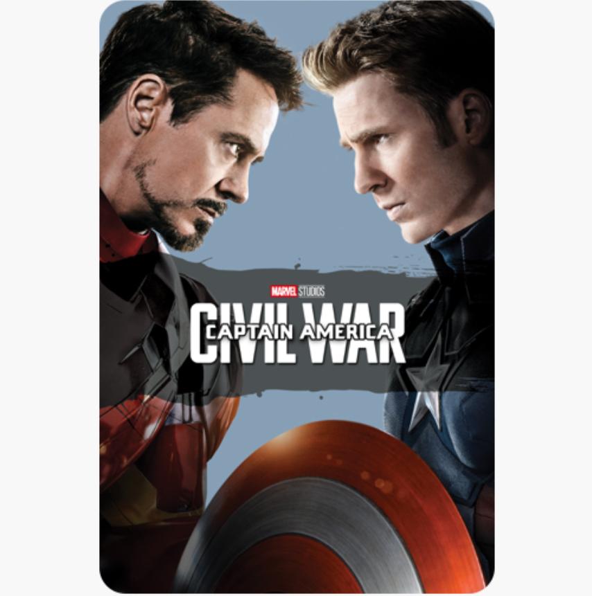 Captain America Civil war, Winter Soldier, First Avenger 4K digital films £4.99 each @ iTunes
