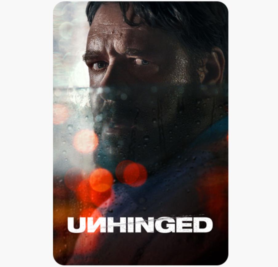 Unhinged 4K digital film £6.99 @ itunes