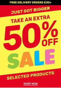 Extra 50% off selected sale items and free delivery with £30 spend / £4.99 P&P Water Bottles £3/ Lunch Boxes £6 / Scented Pens £2 @ Smiggle