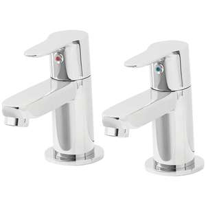 Lecci Bath Pillar Taps £12.39 / Seaford Bath Pillar Taps £13.49 + £5 delivery at Screwfix (More in OP)