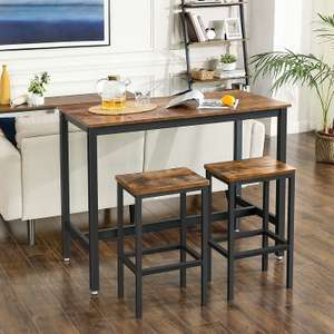 Bar Table with 2 Bar Stools - £89.99 delivered, using code @ Songmics