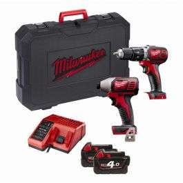 Milwaukee M18BPP2C-402 18v Twin Pack 4.0Ah Kit £229.99 at MyToolShed