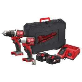 Milwaukee M18 BLPP2A2 18v Brushless Twin Pack 5.0Ah Kit £274.99 at MyToolShed