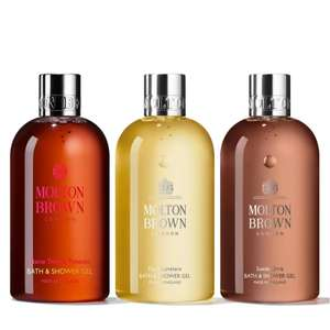 Molton Brown 3 Piece Bathing Collection 300ml £40.91 Delivered @ QVC (& 2 Easy Pays if new & not using easy pays can get £5 off with FIVE4U)