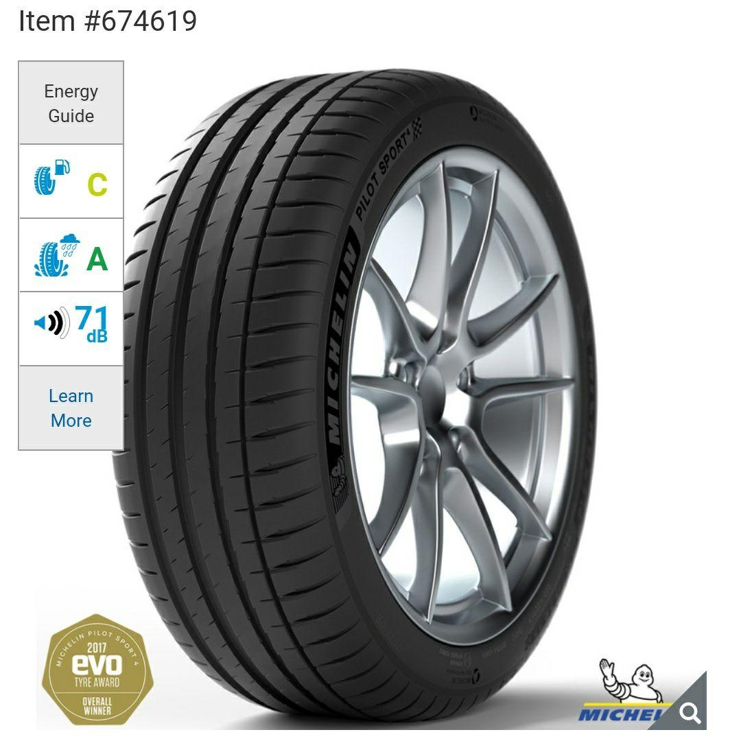 4 X Michelin Pilot Sport 4 225/40/R18 92Y £306.80 delivered @ Costco