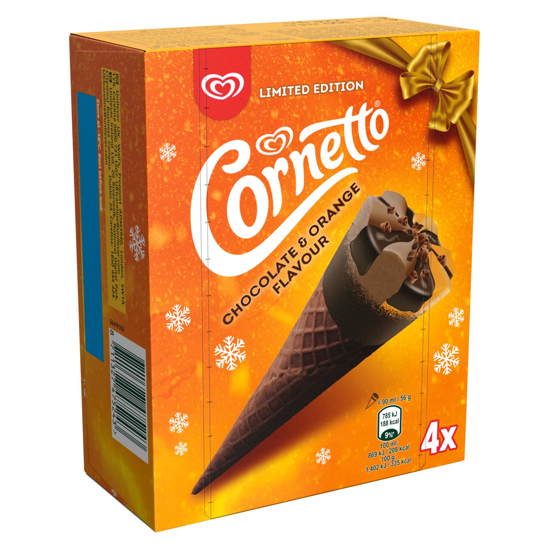 Walls Cornetto Chocolate & Orange Ice Creams 4 Pack £1 @ Asda Blyth