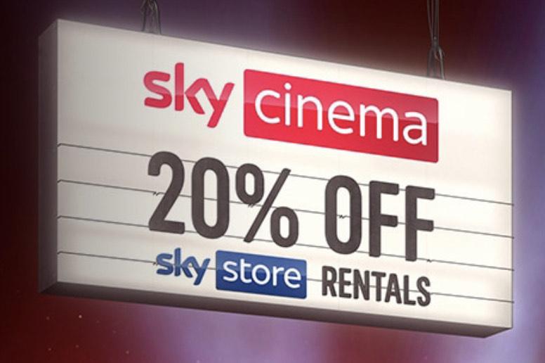 Sky Cinema customers get 20% off Sky Store Rentals