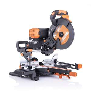 Evolution R255SMS-DB+ 255mm Double Bevel Sliding Mitre Saw With TCT Multi-Material Cutting Blade £252 @ Evolution Power Tools